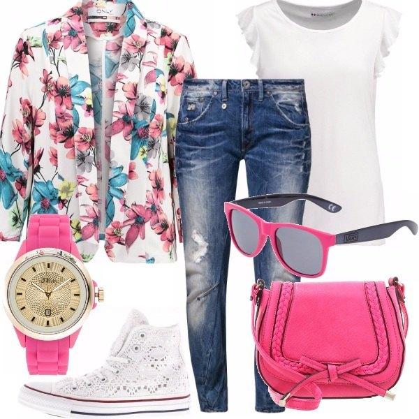 Outfit Denim & flower