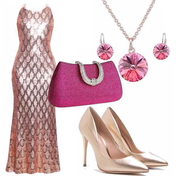 Outfit Una serata gold
