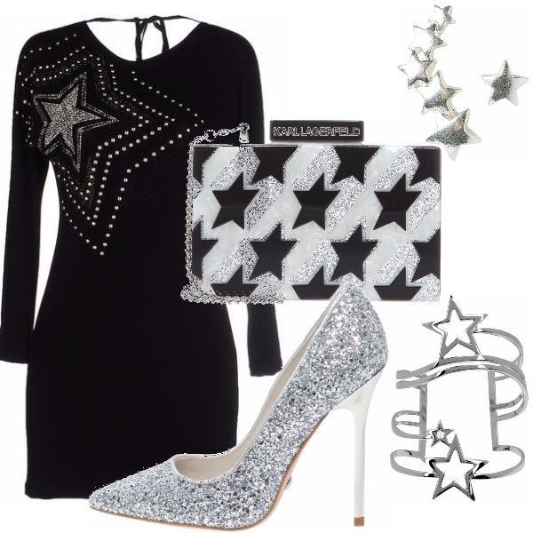 Outfit Silver stars
