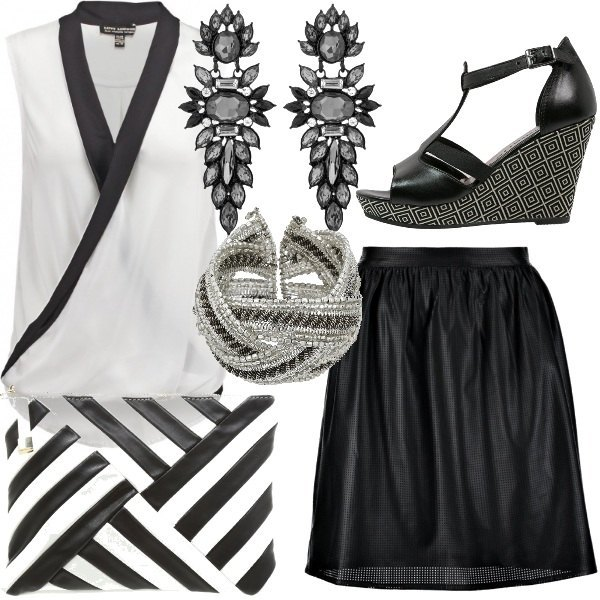 Outfit L'intramontabile coppia black & white