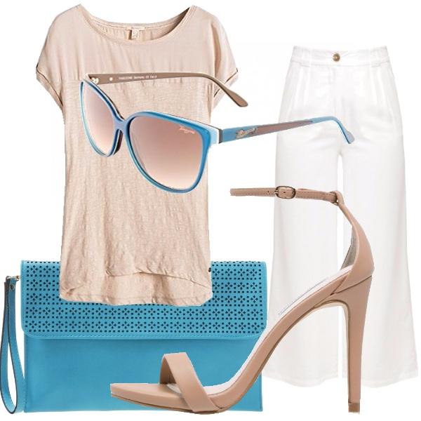 Outfit I colori della sabbia e del mare