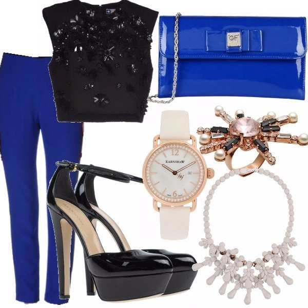 Outfit Black and Blue