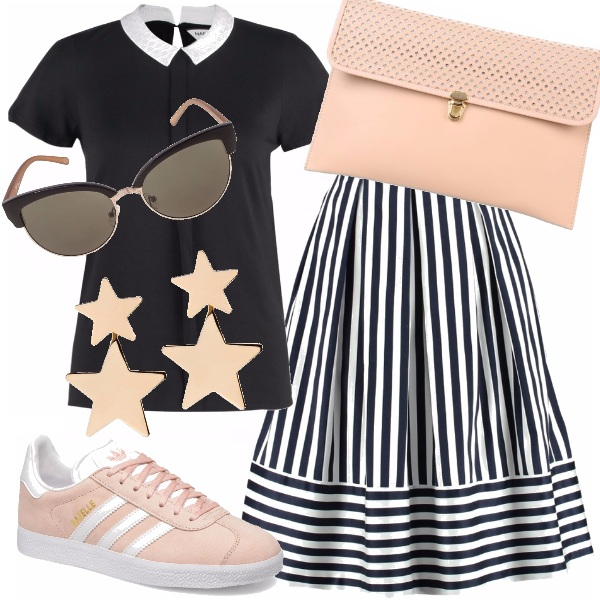 Outfit Stelle e righe