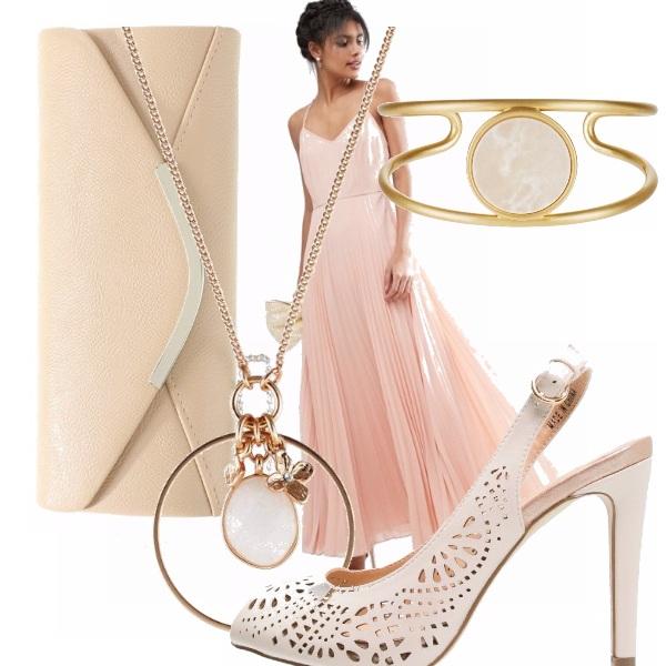 Outfit Plissè rosa