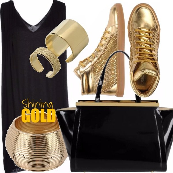 Outfit Shining Gold