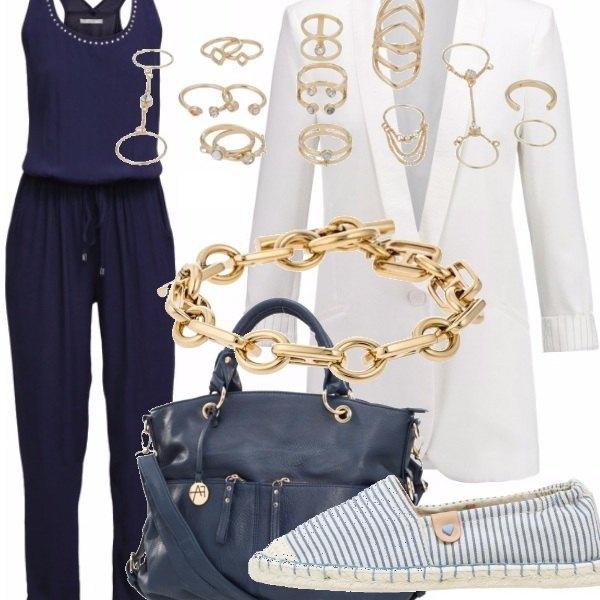 Outfit Tuta e oro