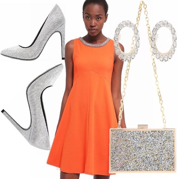 Outfit Arancio e argento!