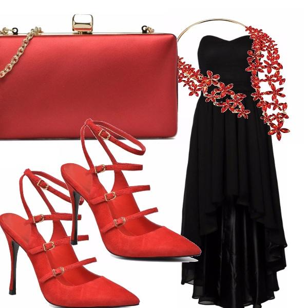 Outfit Cascata di rosso