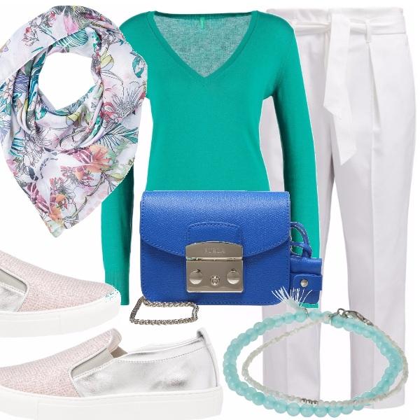 Outfit Slip on e pullover leggero