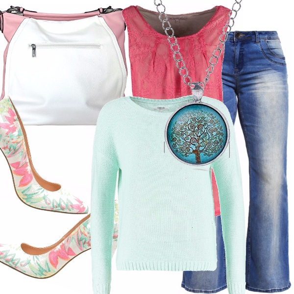 Outfit Curvy pastels