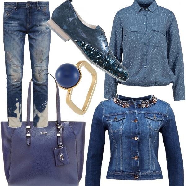 Outfit Voglia di tuffarsi nel blu