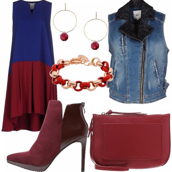 Outfit Blue&bordeaux