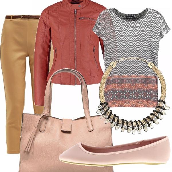 Outfit Il chiodo colorato