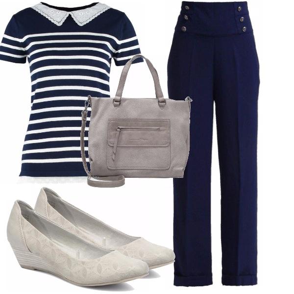 Outfit Stile marine bon ton