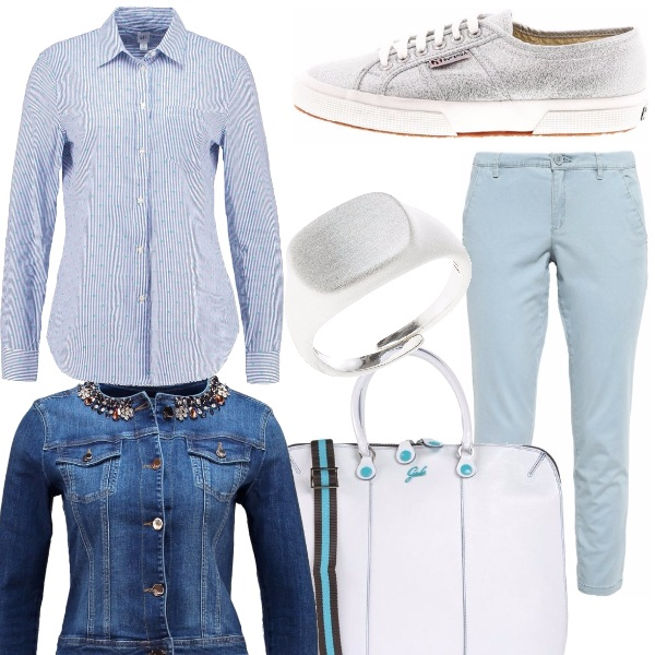 Outfit Azzurro per ricordare