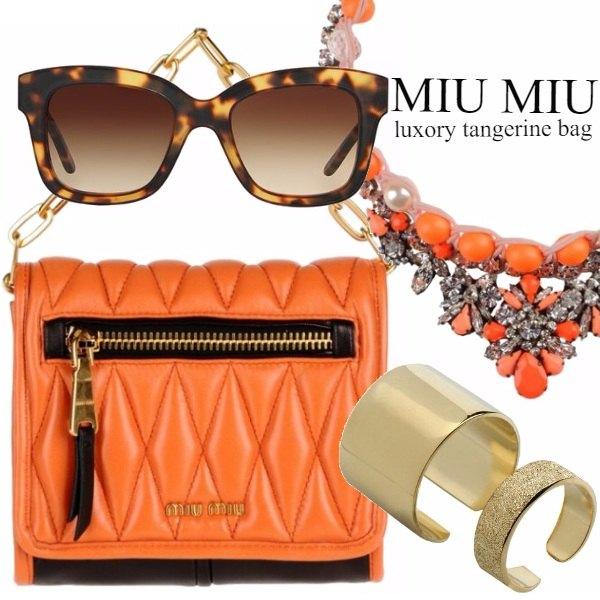 Outfit MIU MIU LUXORY TANGERINE BAG