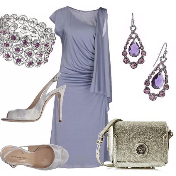 Outfit L'eleganza del lilla