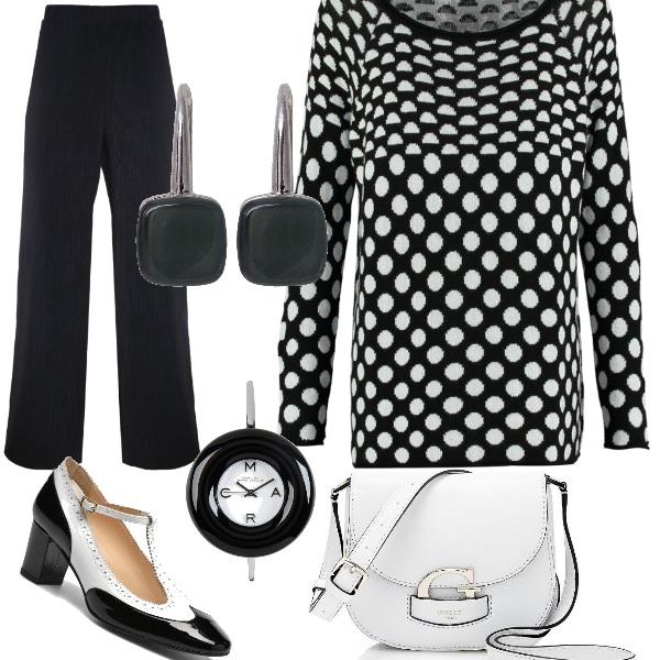Outfit Giocando col bianco e nero