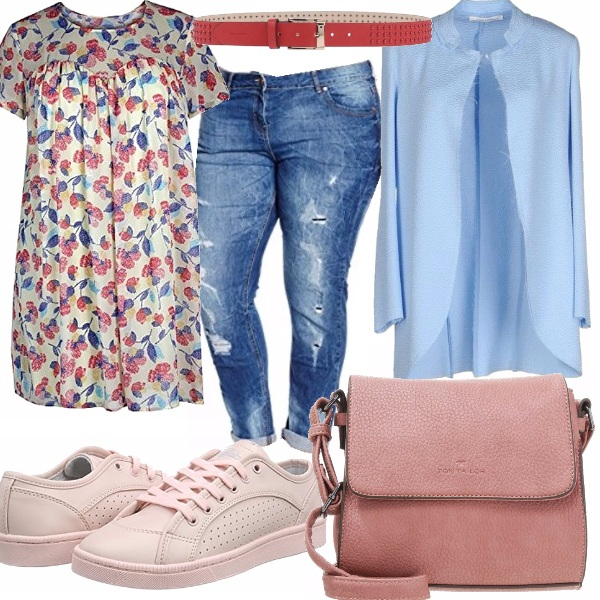 Outfit Pink curvy
