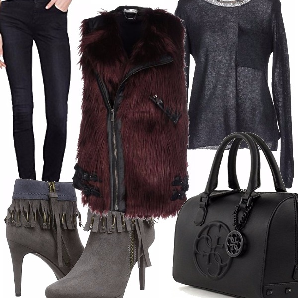 Outfit Gilet trendy