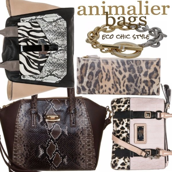 Outfit Animalier bags