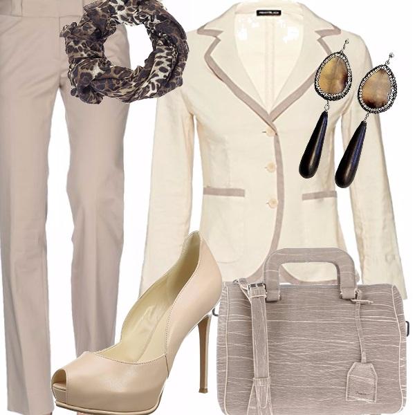 Outfit L'eleganza del beige
