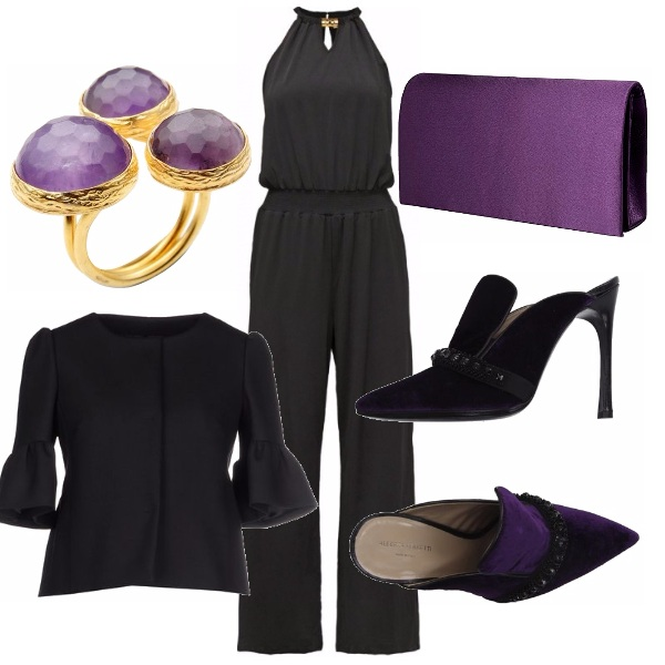 Outfit Glam in purple