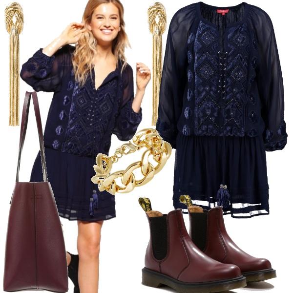 Outfit Vestitino leggero e stivaletti