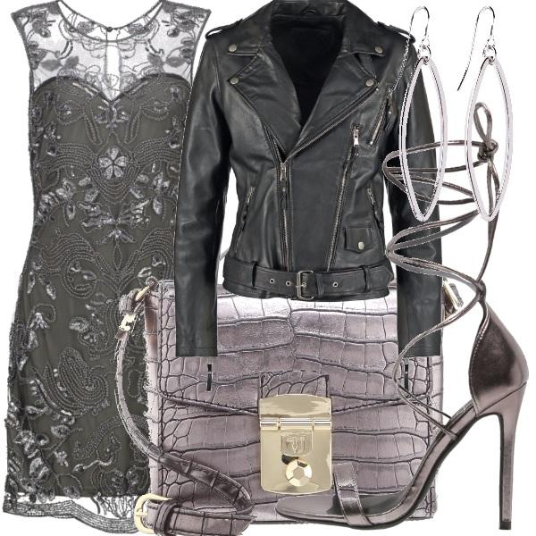 Outfit Elegante e chiodata