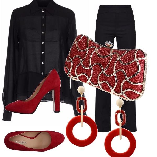 Outfit Rosso e nero 2/2 - a cena fuori