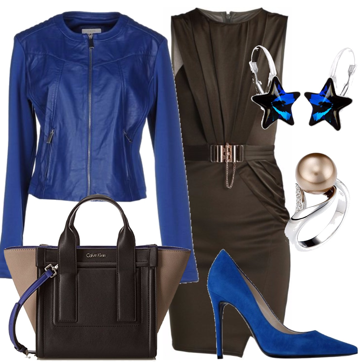 Outfit Marrone & bluette