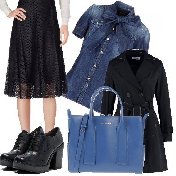 Ufficio Casual Outfit Donna Basic Per Scuola Universit E