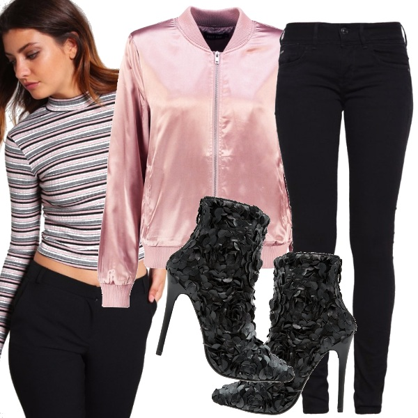 Outfit Sporty chic e bomber