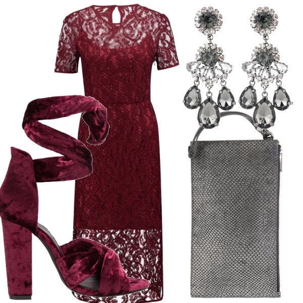 Outfit L'eleganza del bordeaux