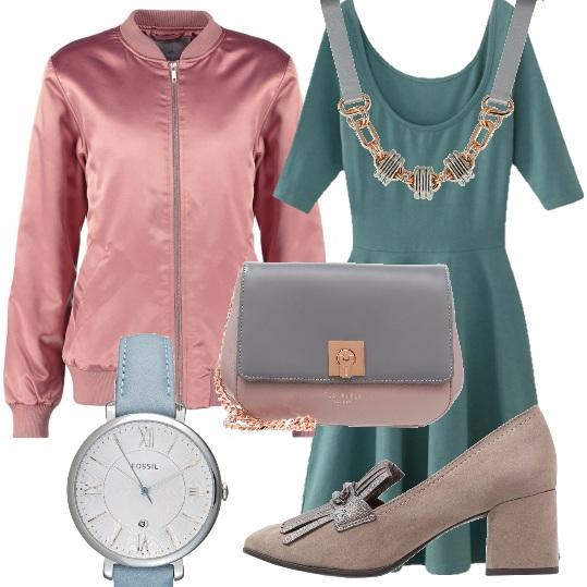 Outfit Di rosa e di azzurro