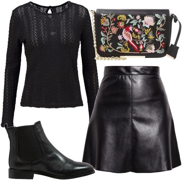 Outfit Ti porto dolcemente in uno stile rock
