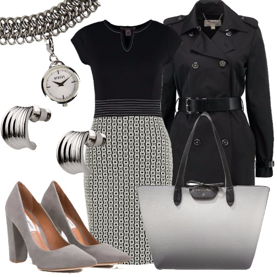 Outfit Al lavoro in black and white