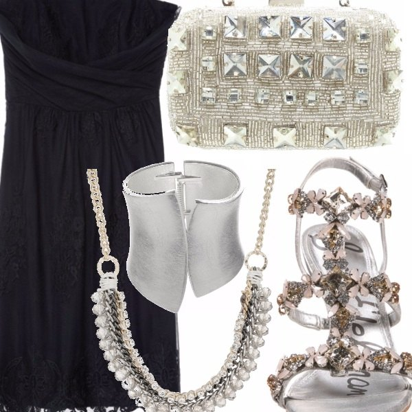 Outfit Bagliori d'argento