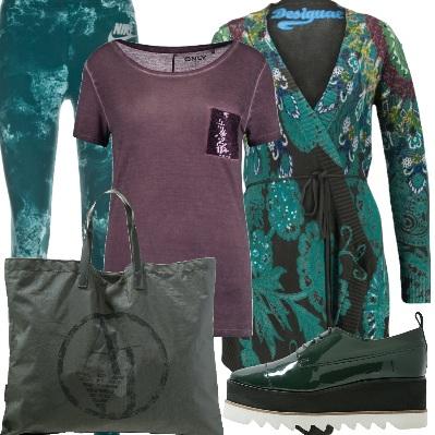 Outfit Sovrapposizione di verde