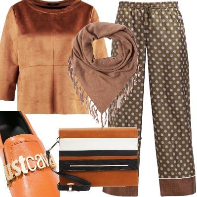 Outfit Caramello e cannella