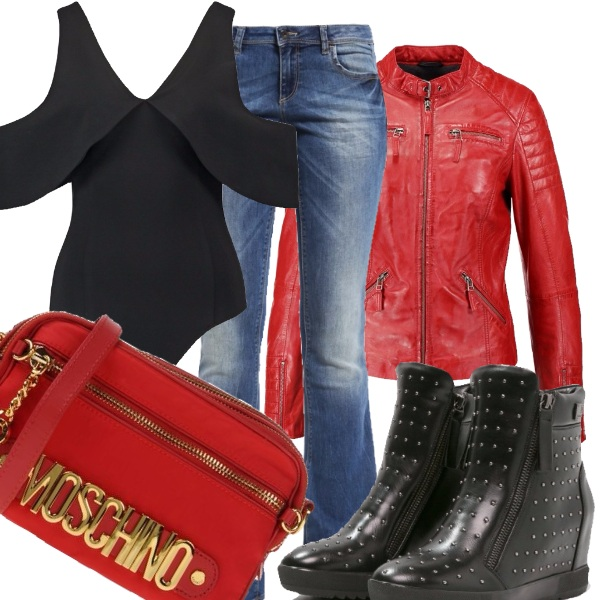 Outfit Rock in rosso!