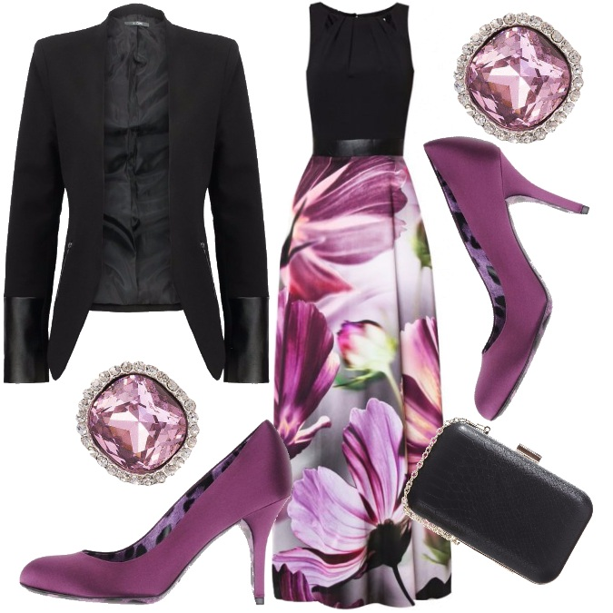 Outfit Purple chic