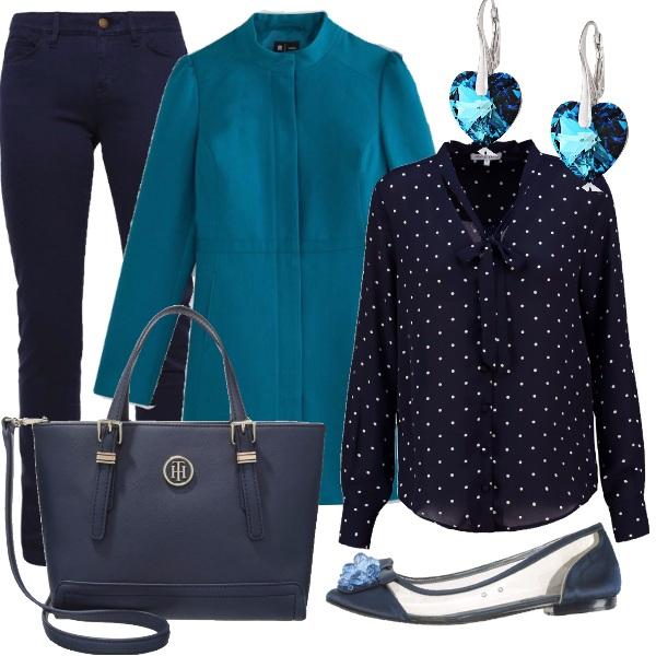 Outfit Autunno sui toni del blu