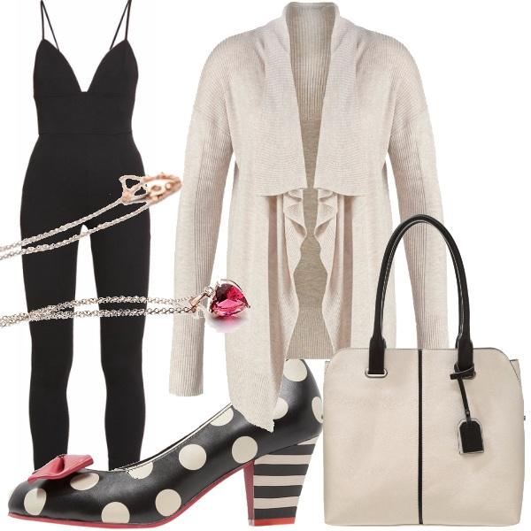 Outfit Beige e nero