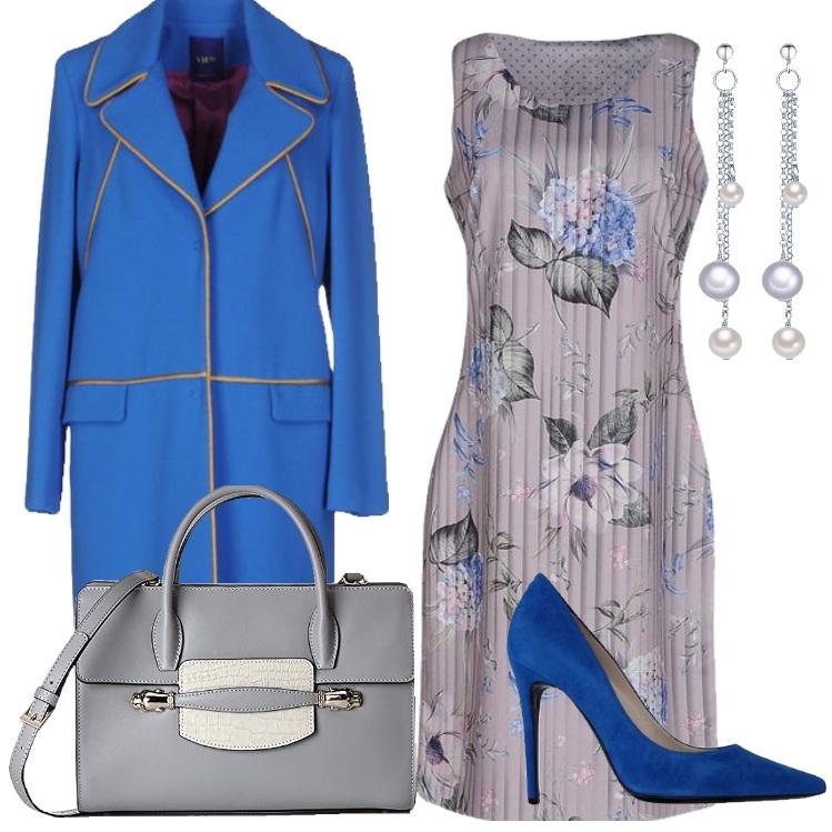 Outfit Bluette e grigio