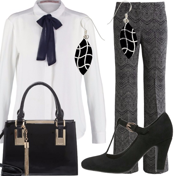 Outfit Il fiocco nero