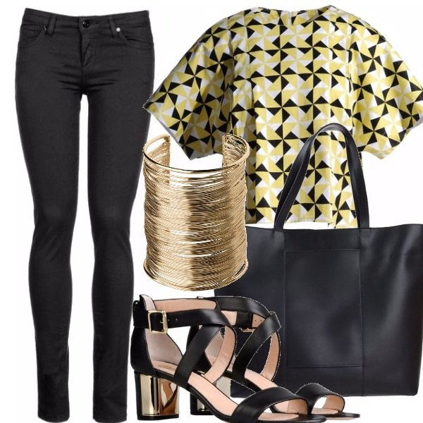 Outfit Yellow & black