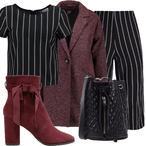 Outfit Pantaloni culotte in inverno...