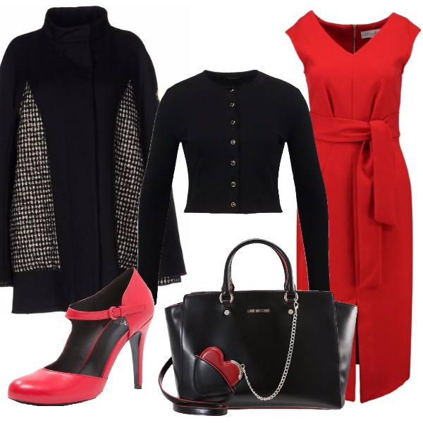 Outfit Rosso nero