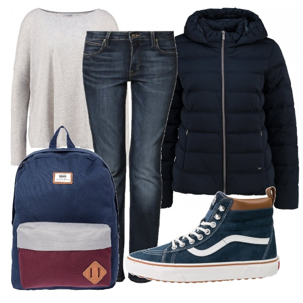 Outfit Casual a scuola